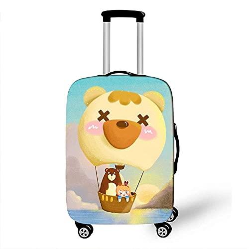 Funda para equipaje Impresión 3D de globo aerostático Protección para funda de equipaje Fundas para equipaje elásticas para protección de maletas de 18 a 32 (Color: E, Talla: XL (29 '' - 32'))