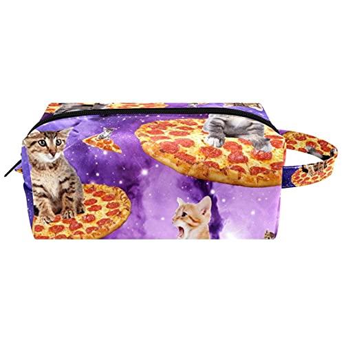 Bolsa de aseo de viaje para colgar cosméticos para mujeres y niñas, impermeable, planetas cohetes espaciales