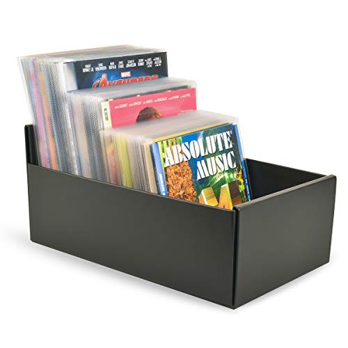 3L Aufbewahrungsbox für DVD, CD und Blu-ray - Praktisches & Platzsparendes Aufbewahrungssystem - Schwarz - 10290