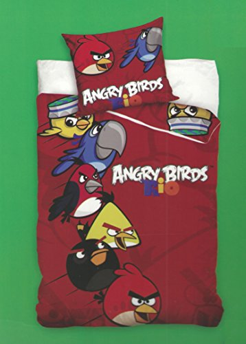 Original Angry Birds Rio Linon Renforcé Set di lenzuola 135X 20080X 80cotone nuovo