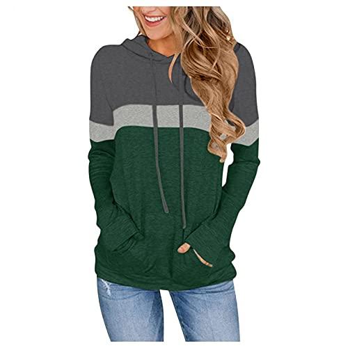 VECDY Damen Pullover,Räumungsverkauf- Herbst Neue Damen Camouflage Printing Pocket Hoodie Sweatshirt mit Kapuze Pullover Tops Bluse Lässiger Sportpullover Herbst langes T-Shirt Warme Jacke(Tarnung,38)