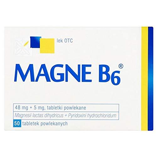 Magne B6 N50 Tab - Alivio para nerviosismo, irritabilidad, ansiedad leve, hipomagnesemia y calambres