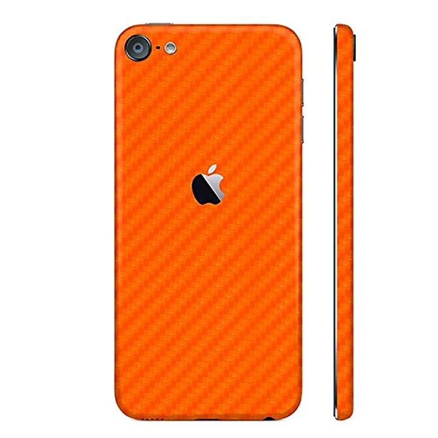 悪い摂動ゆるいiPod touch 第6世代 カーボン調プレミアムスキンシール【カーボンオレンジ】