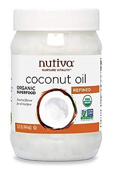 Nutiva Organic Steam-Refined Coconut Oil 15 Fluid Ounce