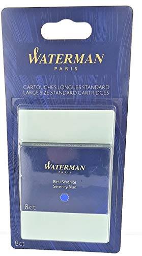 WATERMAN Standard Tintenpatronen, blau, löschbar, im Blister