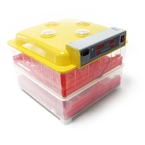 WilTec Incubadora automática 72 Huevos Nacedora Criadero Control Temperatura Incubación Aves