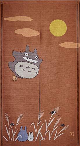 COSMOS 1069 Noren Studio Ghibli My Neighbor Totoro - Cortina (85 x 150 cm), diseño japonés, Color marrón
