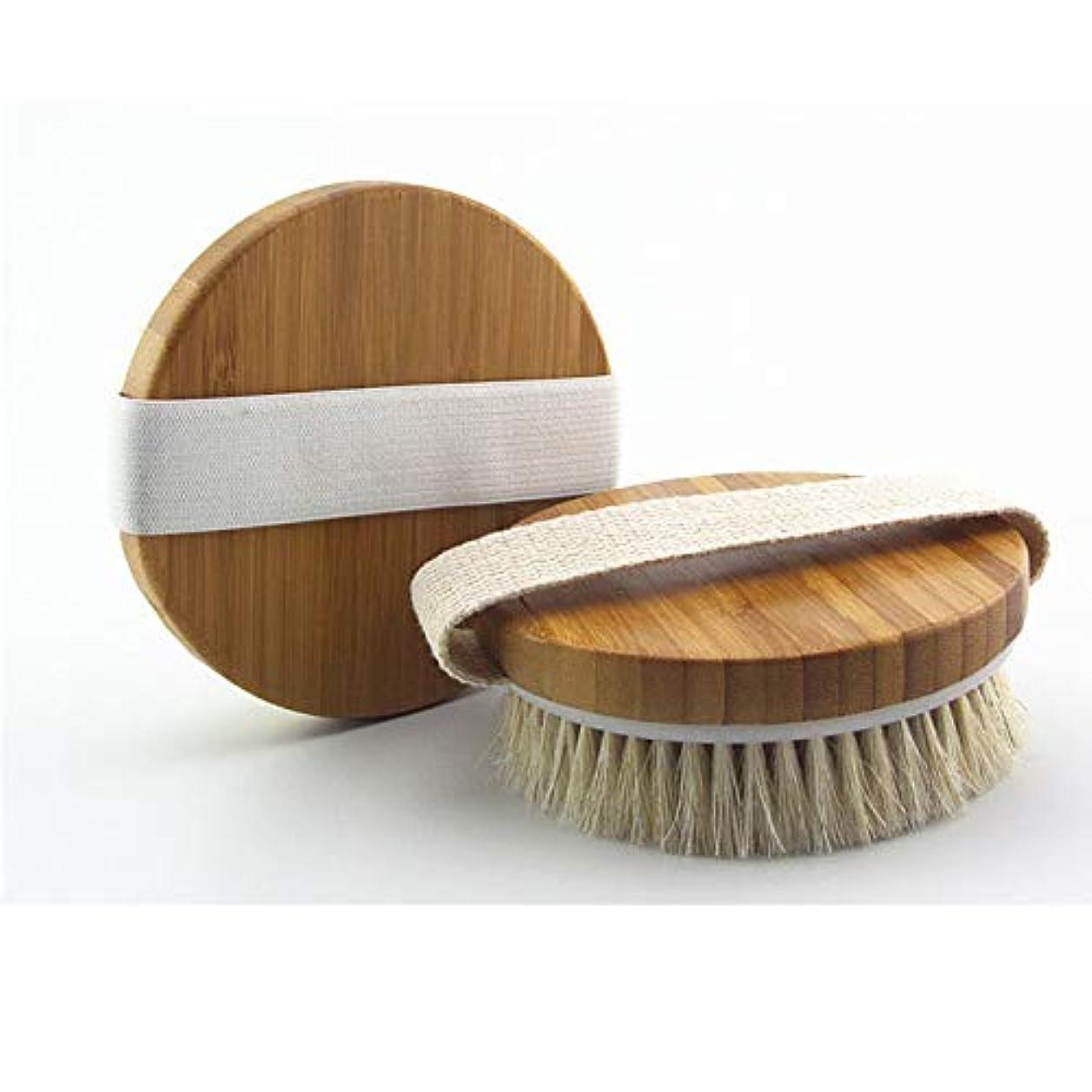 スキッパー眠るに同意するUSAMS ボディブラシ 馬毛100% 角質除去 全身マッサージ 背中 バス用品 お風呂用 美肌