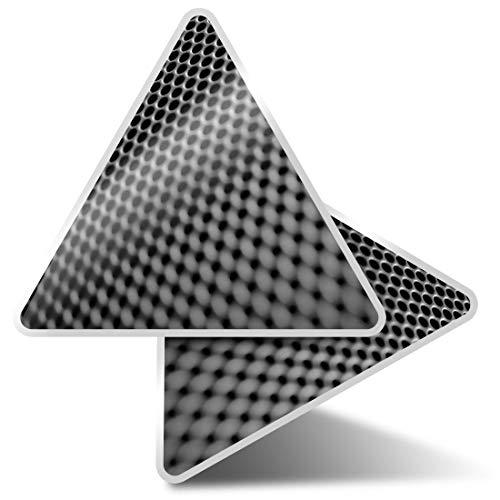 2 pegatinas triangulares de 7,5 cm – BW – Altavoces Música Macro Divertidos Calcomanías para Portátiles, Tabletas, Equipaje, Reserva de Chatarra, Frigoríficos #38112
