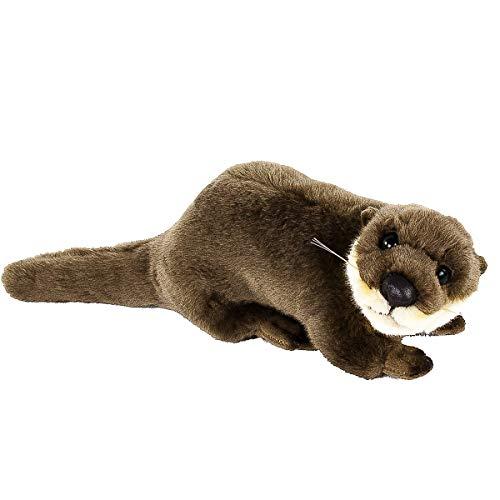 Teddys Rothenburg Kuscheltier Otterbaby, 24 cm, braun, Plüschotter