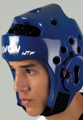 KWON® Taekwondo Kopfschutz 40062 PU CE blau WTF Kopfschützer