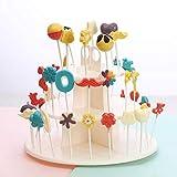 Waroomss - Expositor de plástico con Tres Capas para repostería, Soporte para Cupcakes extraíble, Soporte para postres, Soporte para Bolas para decoración Que refresca la sequedad