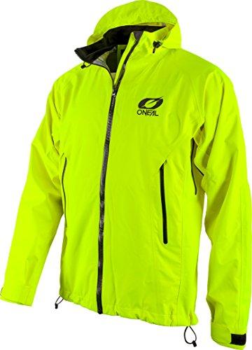 O\'NEAL | Mountainbike-Jacke | MTB Mountainbike DH Downhill FR Freeride | Wasserdicht, Unterarmbelüftung, Soft-Touch-Material | Tsunami Rain Jacket | Erwachsene | Neon-Gelb | Größe S
