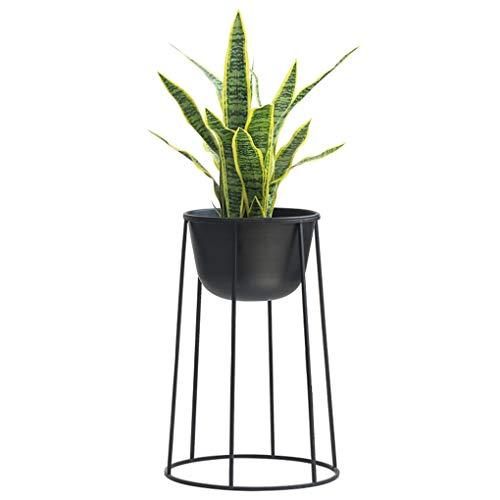 Sarazong Stand de Plantes Nordic Style Iron Art, Stand de Fleurs Décoration Stand de Plantes créatives Salon intérieur Pot de Fleurs Noir,Black,62cm