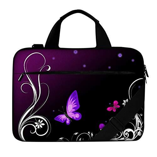 HUANGGUA Laptop-Tasche Airbag-Schulter-Handtasche 14 bis 17.3 Computer wasserdichtes Etui Notebook