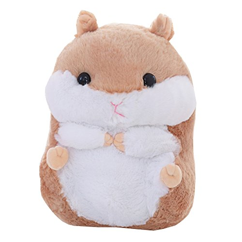 Fat Hamster Pillow Plush Dolls Cute Creative Plush Toys 15.7' (Brown)