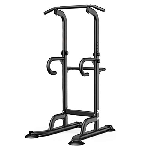 Swiusd Adjustable Power Tower Exercise Equipment Dip Station Pull Up Bar Strength Training Multi-Function Push Up Workout Fitness Stand for Home Gym (Bearing 440lb, 29.2'(W) X 36.5'(L) X 66-85'(H))