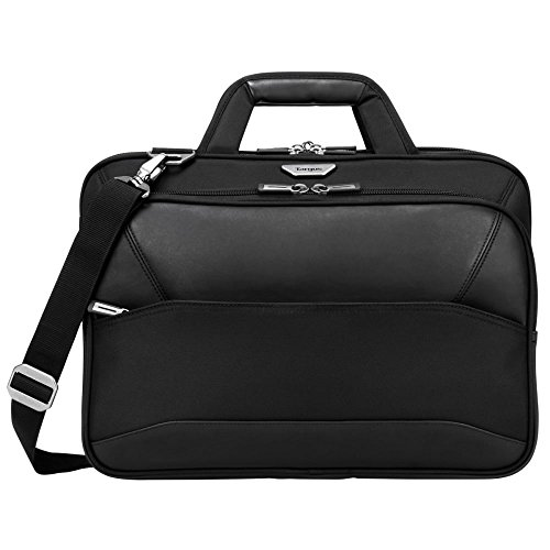 Targus Mobile-VIP Travel and Checkpoint-Friendly Laptop Shoulder Bag with SafePort Sling Drop Protection for 15.6-Inch Laptop, Black (TBT264)