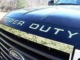 Capota delantera Super Duty cromo emblema emblema emblema de sangría Set para Super Duty 2011 2012 2013 Ford F-250 F250 F 250 F-350 F350 F 350 F-450 F450