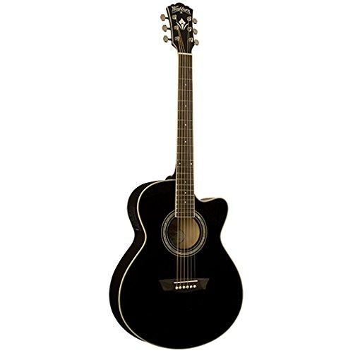 Guitarra Washburn ea-12 b negra - Washburn: Guitarra electroacústica ea12b ne
