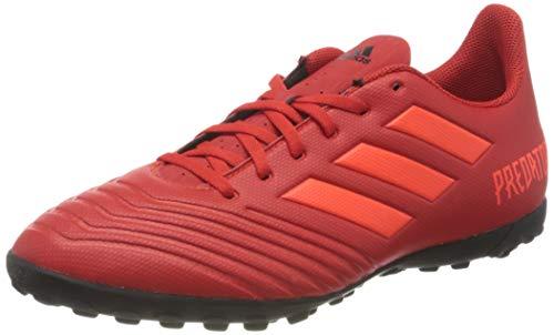 Adidas Predator 19.4 TF, Botas de fútbol Hombre, Multicolor (Rojact/Rojsol/Negbás 000), 43 1/3 EU