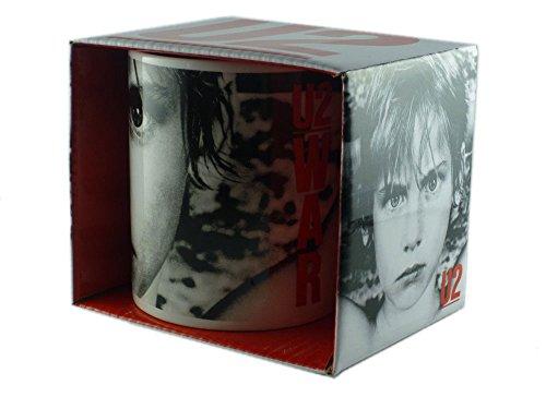 U2 – Taza de cerámica – War – Embalado en una Caja de Regalo.