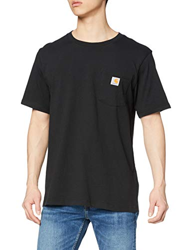 Carhartt Pocket Short-Sleeve T-Shirt, Black, S Uomo