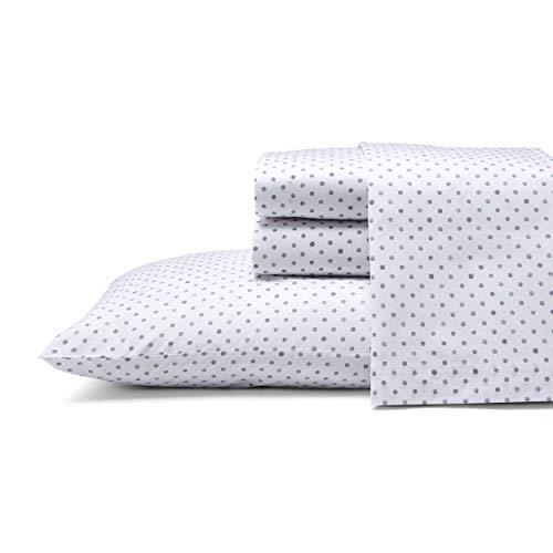 ED Ellen DeGeneres - Percale Collection - Bed Sheet Set - 100% Cotton, Oeko-Tex Certified, Crisp & Cool, Lightweight & Moisture-Wicking Bedding, Full, Watercolor Dots
