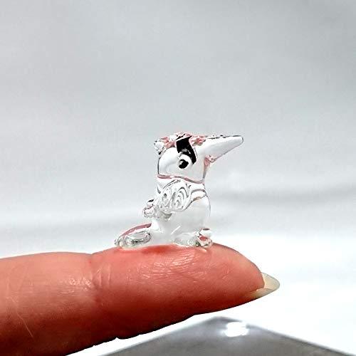 Sansukjai Rare Toucan Tiny Micro Crystal Figurines Hand Blown Clear Glass Art Birds Animals Collectible Gift Home Decor