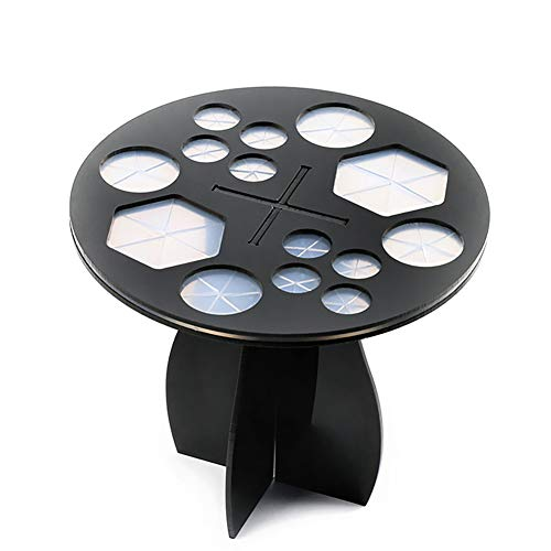 Xiton 1 PC Tenedor Del Cepillo Del Maquillaje ÁRbol Cepillo De 14 Agujeros Organizador De Secado Base Acrilica Plegable Brocha De Maquillaje Stand Air Torre De Secado Cepillo De Cosmeticos(Negro)