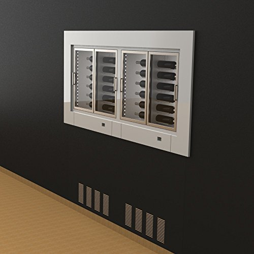 Ip Industrie - Espositore da incasso climatizzato con 2 cantine indipendenti e ante a vetri, capienza 96 bottiglie