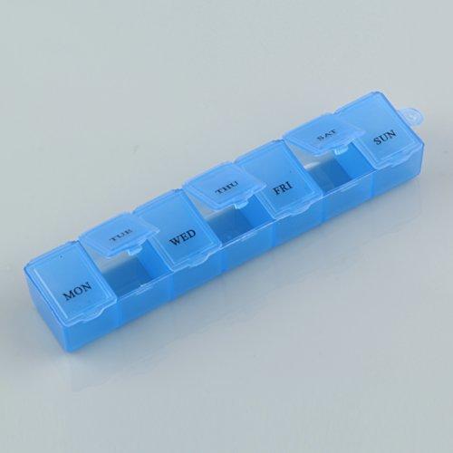Sannysis Weekly Medicine Storage Organizer Container Case 7 Day Tablet Pill...