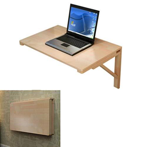 GWZSX Mesa Plegable pequeña Mesa de Pared Escritorio Colgante de Pared Mesa Plegable Mesa de computadora de Madera Mesa Colgante baño o balcón-50×30cm