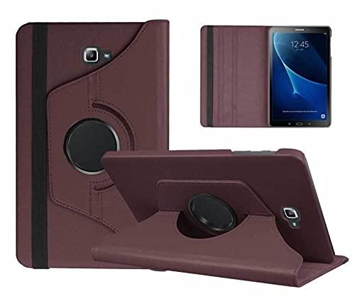 360 Funda Inteligente giratoria para Samsung Galaxy Tab A 10.1 2016 T580 T585 T580N T585N CUCK Funda PU CUERTURO DE CUERTURO DE CUERTURO DE CUERTURO DE CUERDO DE LA PU-marrón