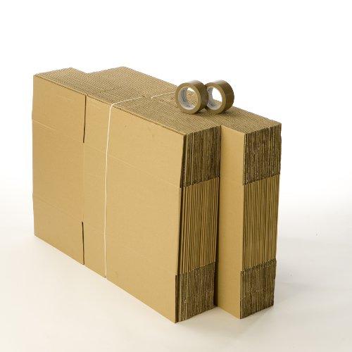 Kit 40 cartons déménagement standard avec 1 rouleau d'adhésif gratuit