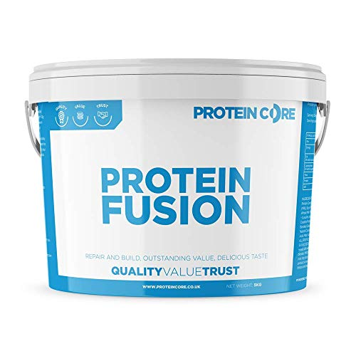 Protein Fusion Whey Powder - Best Nutrition Whey Shake Optimum Drink - Low Fat & Carb - Gym Build Muscle + Strength - Protein Core (Vanilla, 5KG)