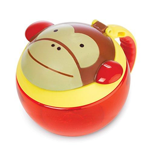Skip Hop Zoo Snackcup, Snackbox, Aufbewahrungsbehälter für Kinder, mehrfarbig, Affe Marshall