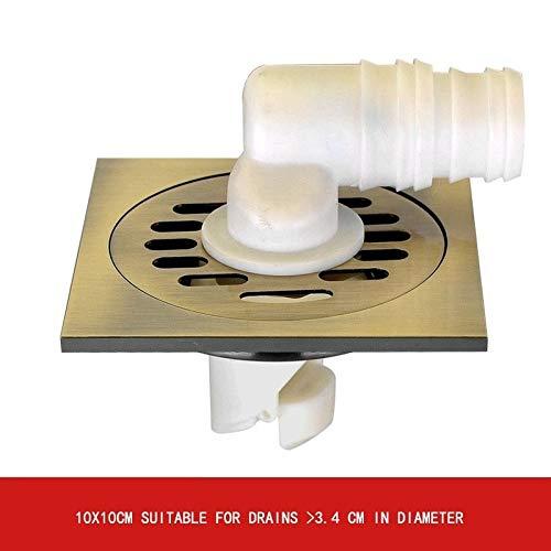 VIV Messing Bad Bodenablauf, Fliesen Platz Bodenablauf Einfügen, Deodorant Gitter Bodenablauf, Badezimmer-Zubehör, Bodenablauf * 1 (Color : G)
