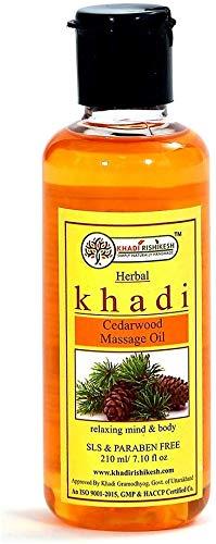 Glamorous Hub Khadi Rishikesh Herbal Aceite de masaje de madera de cedro 210 ml (el embalaje puede variar)