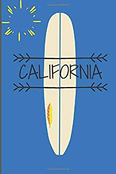 CALIFORNIA Surf Notebook  Surfer lover /Beach lover /120 Pages/ 6x9 Notebook/ Notes