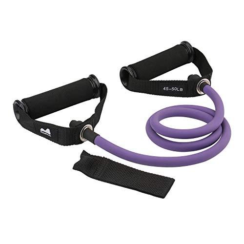 REEHUT Bandas Elásticas de Entrenamiento, Bandas de Resistencia para Fitness Cable de Ejercicio de Entrenamiento para Tonificación Muscular, Equipo de Ejercicio de Estiramientos para Yoga, Morado