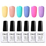 Elite99 Esmaltes Semipermanentes de Uñas en Gel UV LED, 6pcs Kit de...