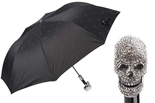 Pasotti Swarovski Skull Folding Umbrella NEW