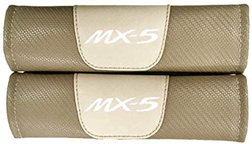 2Pcs Car Seat Belt Cover for Mazda MX-5 MX5, Comfort Soft Safety Interior Accessories Protector Neck and Shoulder Rubbing