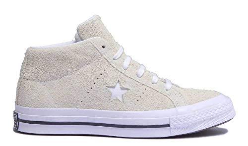 Converse Unisex Adults Lifestyle One Star Mid Suede Fitness Shoes, Yellow (Vapor Lemon/White/Black 758), 9.5 UK