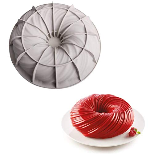 Yeyll Moule en silicone anti-adhésif pour cupcakes, muffins, bagel, four micro-ondes, lave-vaisselle