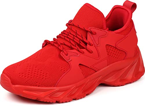 BRONAX Sneakers for Men Sports Slip on Work Out Fashion Lightweight Red Size 11 Stylish...