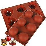 Molde de silicona DIY para chocolate, pasteles, gelatina, pudín, jabón, media bola esfera, molde de silicona para pastel de chocolate