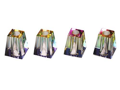 LK Trend & Style 4 x Glutkiller aus Glas bunt Sortiert für Aschenbecher Gluttöter Glutlöscher