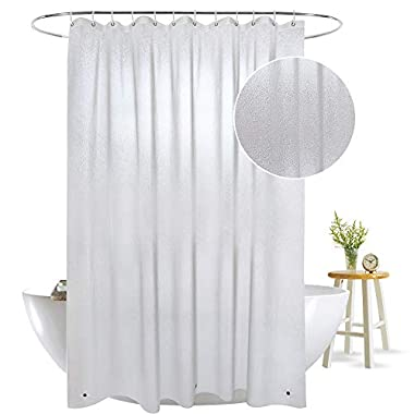 Aoohome Frosted Shower Curtain Liner, Eva Extra Long Shower Curtain 72x78 Inch with 3 Bottom Magnets, Heavy Duty, Mildew Resistant, Semi Transparent